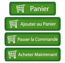 Boutons e-Shopping