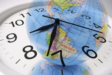 Globe and Clock