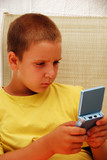 child playing video game poster