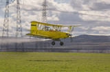 Low flying crop duster poster