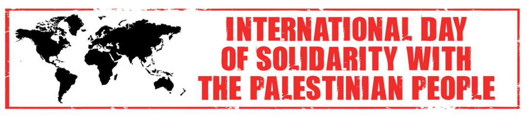 day of solidarity with the palestinian people