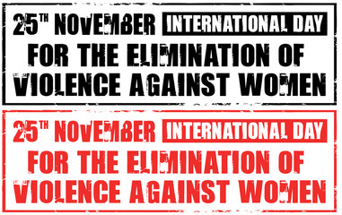 day for the elimination of violence against woman