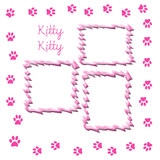 kitty scrapbook page poster