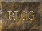 Grained marble plaque with BLOG text poster