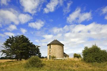 bretagne,belle-île : moulin
