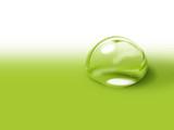 Fototapety goutte d'eau verte