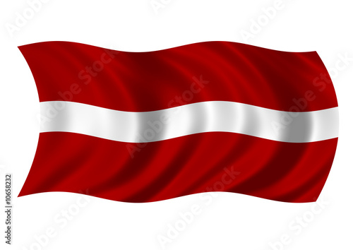 Republic of Latvia Flag