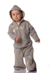 Walking baby in tracksuit
