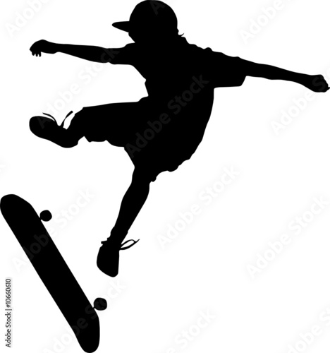 """skateboarding silhouette vector"" Stock image and royalty ..."