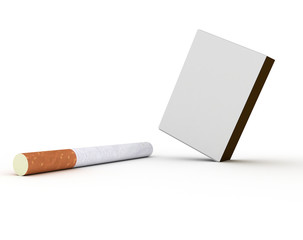 Cigarette and pack of matches
