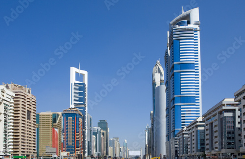 Plexiglas Dubai Skyline in der Sheikh-Zayed-Road in Dubai