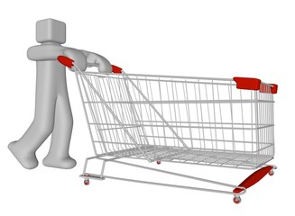 big shopping cart 3d for major expenses