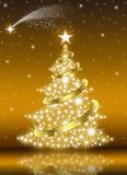Fototapety Golden Christmas Tree