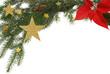 Weihnachtshintergrund mit weißem Freiraum