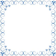 Decorative blue framework from curls