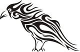 Tribal raven tattoo poster