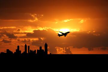 plane departing Atlanta