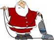 Santa Using A Vacuum
