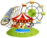 Fototapety Amusement Park