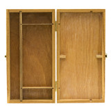 open wooden box with dividers poster