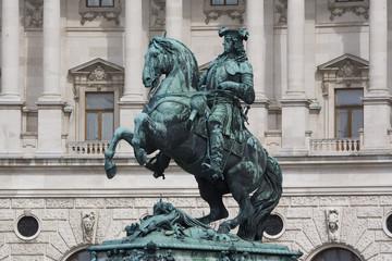 Reiterfigur (Prinz Eugen) an der Wiener Hofburg