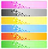 Abstract banners with pixels poster