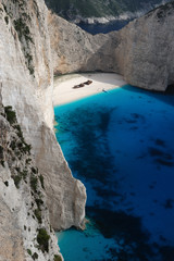 The Shipwreck Beach, island of Zakynthos, Greece