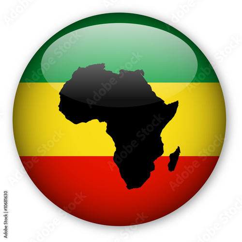 Rasta Flag button with Map of Africa