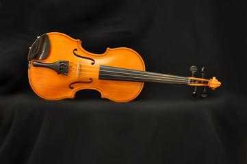 Violino su telo nero