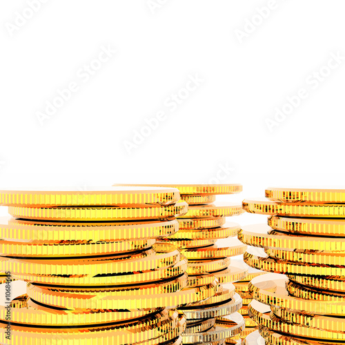 coins isolated on a white