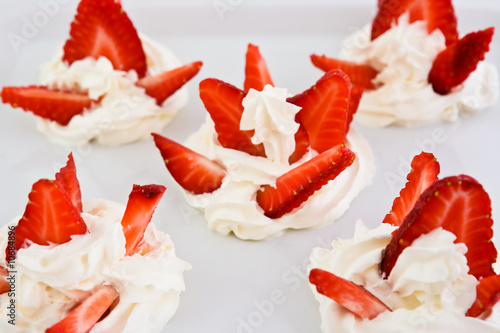 Strawberry with whipped cream