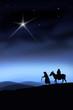 Leinwanddruck Bild - Der Weg nach Bethlehem