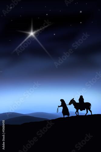 Leinwanddruck Bild Der Weg nach Bethlehem