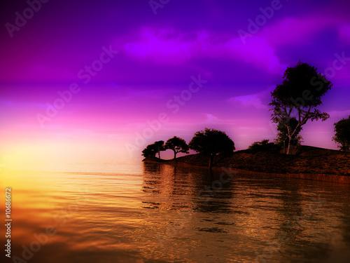 Leinwanddruck Bild Sea Island 3