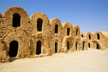 walls of Berber village in Tunisia
