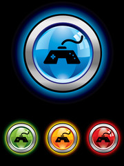 Glossy button series...gaming joypad