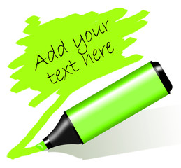 Green highlighted paper - Evidenziatore