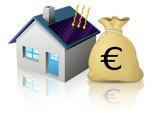 Maison solaire et son budget (reflet) poster