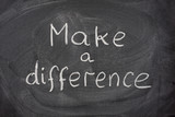 make a difference phrase on blackboard poster