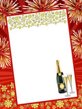 Fototapety Happy New Year card (red)