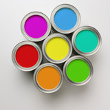 Paint Cans in a circle