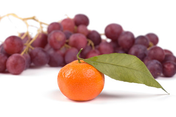 tangerine and grape