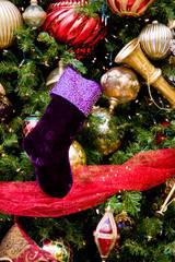 Christmas Tree Purple Boot