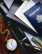 Airline tickets and passport