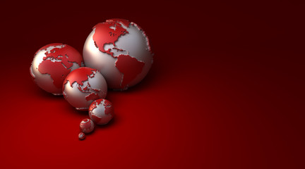 Global earth red
