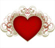 Heart with design elements