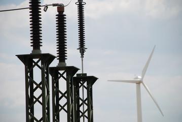 Umspannwerk Windenergie Windkraft Deutschland