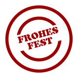 stempel frohes fest poster