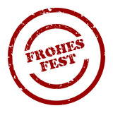 stempel frohes fest 2 poster