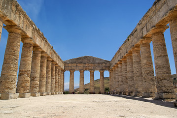 Greek temple in Segesta (Sicily, Italy)